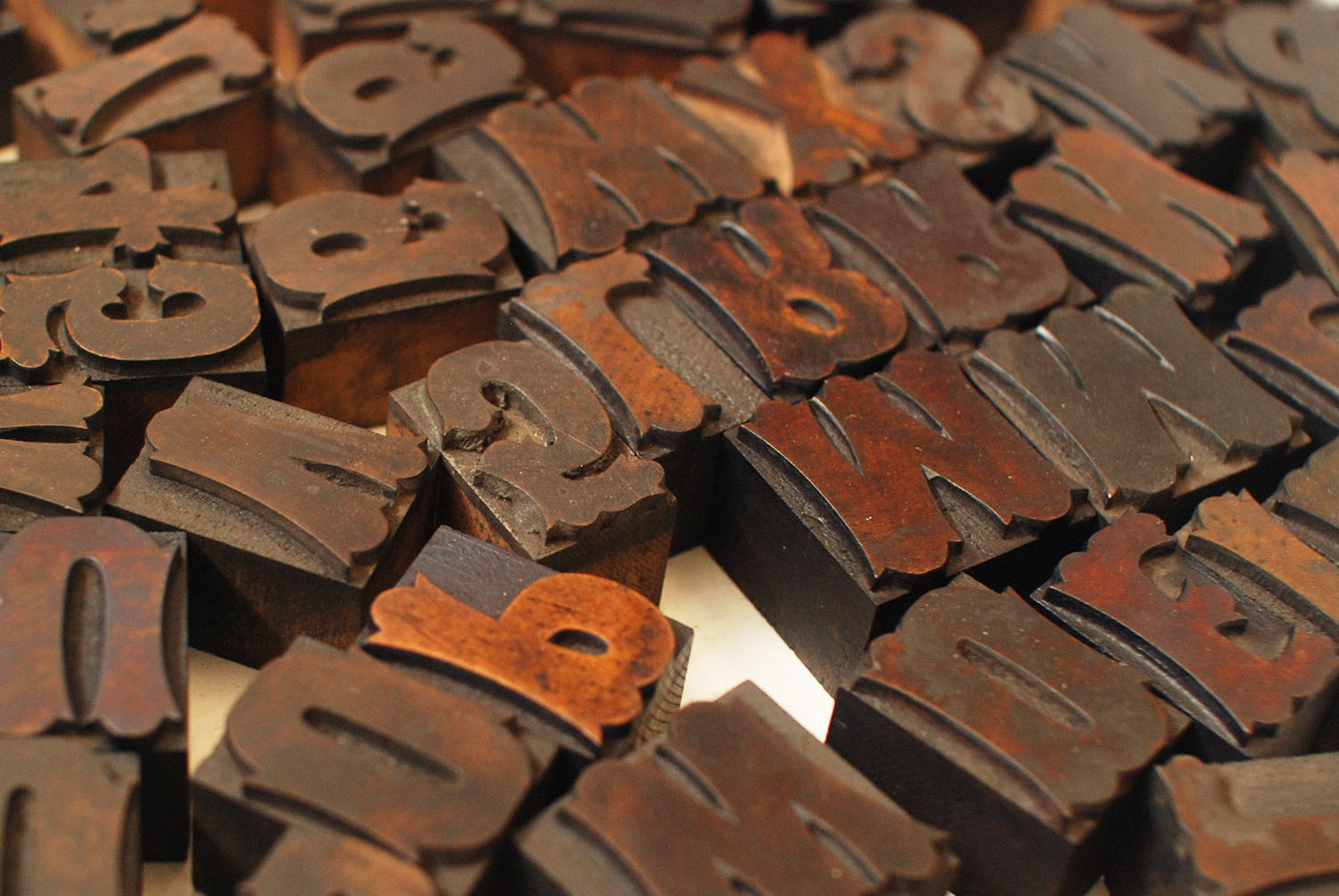 Gothic Tuscan Woodtype in Box
